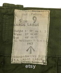 Original 1963 Dated 1960 Pattern Combat Trousers Size 9