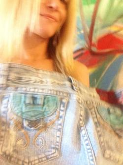 Original Hand Painted Clothing Denim Jeans Up-cycled Hip Funk Modern Functional Wearable Art Size 4 Free Ship USA