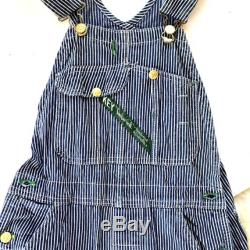 Perfect fit vintage stripe denim conductor overalls