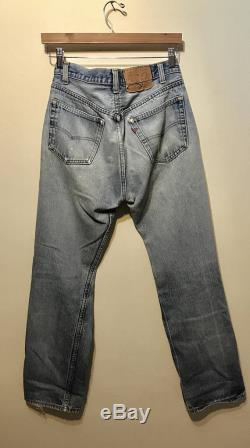 Perfectly faded and torn Levi's 501 size 32x34