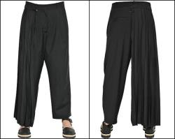 Pleated Drape Superlight Cool Stretchy Cotton Pants for Men Women