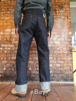 Quartermaster Lutece Mfg Co Denim Jeans 30-40s Style no Chinch Back