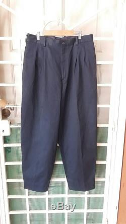 Rare Yohji yamamoto pour homme pant blue waist 32 33 made in france ys for men cdg