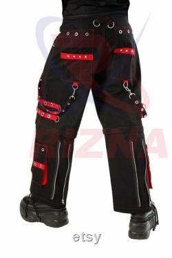 Red emo aesthetic trousers, Bondage Trouser, Trip Nyc pants