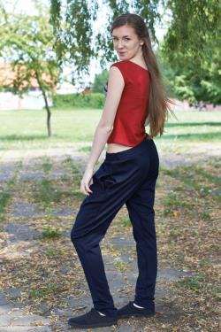SALE Casual pants, Newith Collection Lazy Mondays 100 cotton fabric dark blue Made to order