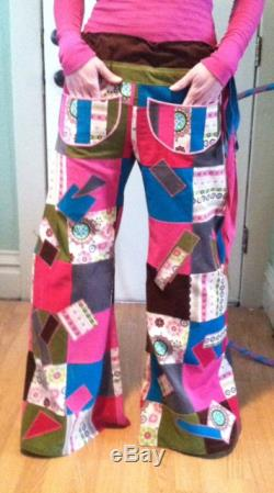 Sugar and Spice Patchwork Pants Festival Clothing Pixie Pants Dance Pants Gypsy Clothes Flared Pants Bell Bottoms Hippie Pants