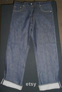 Superior 1930's VINTAGE REPRODUCTION Rockabilly Buckle Back Jeans by Evil Denim