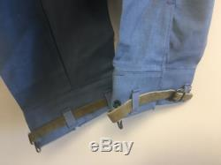 Swedish Army Vintage denim civil defence trousers pants military cargo combat deadstock 1960s