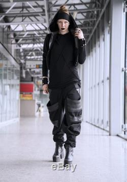 TUBE pants Multiple pockets. Hand made quality Comfortable pants in a cotton weave Cyber punk vibe Samurai style. perfect for burning man
