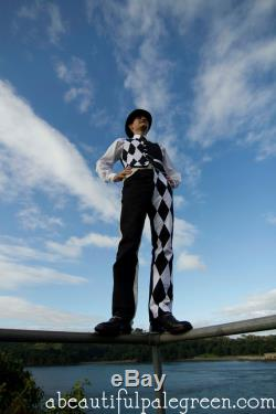 The Harlequin Trousers Stylish Circus, with a Monochromatic Venetian Twist