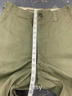 Trousers Field Cotton OD 1950 Tagged 30x32