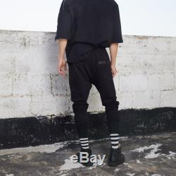 Unisex Tech Wear Loose Fit Black Cargo Cotton Pants With Nylon Pockets