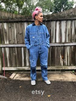 Upcycled Overalls made from Wrangler Carpenter Jeans