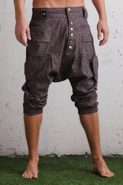 VALO LUONTO Casual fit drop crotch baggy harem pant for urban nomads after comfort and style