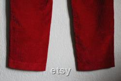 VERSACE VERSUS authentic corduroy velveteen mens red casual pants Cotton trousers Italy made