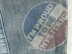Very Rare Vintage Hysteric Glamour Kinky Jeans Mutlticolour Patches Streetswear Japan Vintage Man Jeans