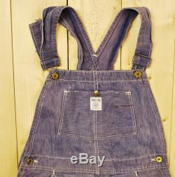 Vintage 1940's 50's SWEET ORR and Co. Bib Overalls with Excelsior Iron Works Sign Union Made Sanforized Retro Collectable Rare