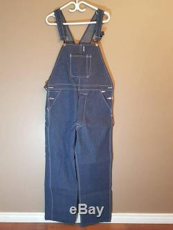 Vintage 1960s 70s Pitch Rider Overalls, Vintage Work Overalls, Rare Deadstock Size Mens L