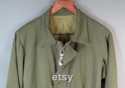 Vintage 1960s US Army Mechanics Coveralls OD Green Military Overalls Vietnam War Workwear