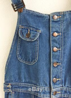 Vintage 1970's Bell Bottom High Wasited Overalls size Small