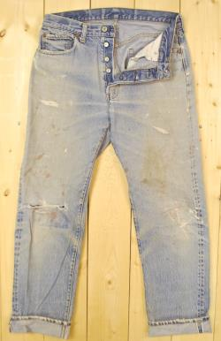 Vintage 1970's LEVIS 501's Denim Jeans Selvedge Redline Retro Collectable Rare