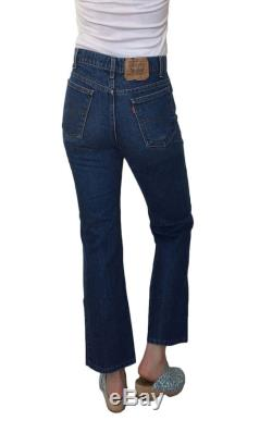 Vintage 1970s Levi's 517 Orange Tab Jeans Slim Fit Boot Cut Zipper Fly Boho Capri Jeans 33 x 33 Made in USA Actual 31 x 27.5