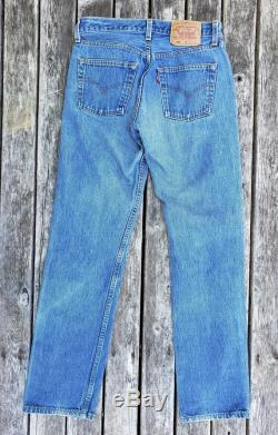 Vintage 1980's Levi 501's, 100 cotton denim and made in the USA, tag size 29 x 32