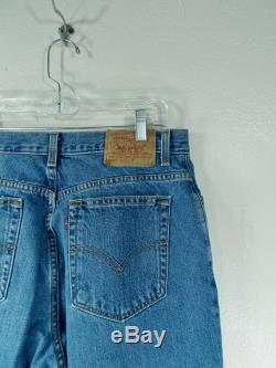 Vintage 1990's Levis Jeans 32 33 Waist Red Tab Levis 550 High Waisted Boyfriend Mom Jeans Relaxed Fit Tapered Leg 29 Inseam