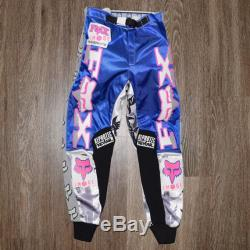 Vintage 1991 Fox Racing Barbed Wire Motocross Pants Size 26 Supercross Bradshaw