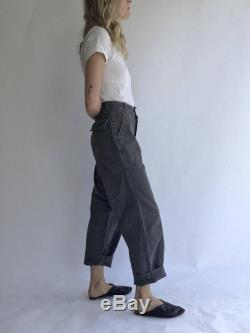 Vintage 29 30 32 Waist Grey Dutch 60s Military High-Waisted Pants Herringbone Twill Fatigue HBT Rare Pants. See Size Options.