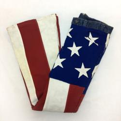 Vintage 70s LEVIS Hand-Sewn American Flag Bell Bottoms 31 x 33 Jeans Denim 1970s Orange Tab Americana Donald Trump Pants