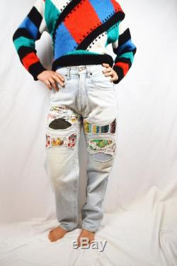 Vintage 80s Amazing Patch Chewan High Waisted WOW Jeans
