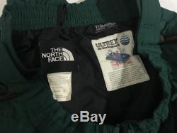 Vintage 90s The North Face Rage Green and Black Down Hill Ski Pants. Size Large
