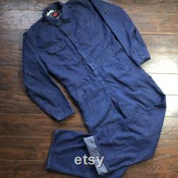Vintage Big Ben Wrangler Denim Mechanic Coveralls with Red Stitching Made in USA