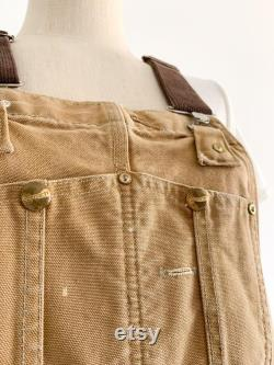 Vintage Carhartt Overalls in Tan Canvas