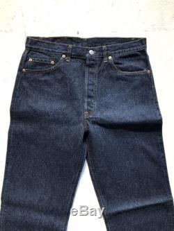 Vintage Deadstock Levis 501s One Wash Preshrunk Made in USA Size 34 Fit Size 31.5 Waist 1987 Levi Strauss 501 High Waisted Americana
