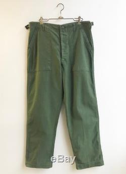 Vintage Early 60's Military Cotton Utility Pants size 33 x 29 Button Fly
