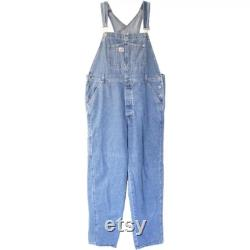 Vintage Guess Denim Overalls, Retro Hip Hop Fashion, Size L 1990 s Jean Overalls, Clothing Gift for Men or Women
