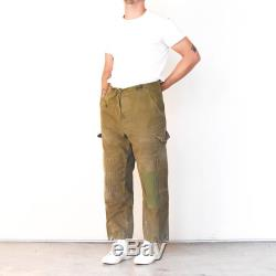 Vintage Khaki Tan Beige Olive Green Trousers Utility Pant Military Army Patched Drawstring Army Cargo Pocket Nigel Cabourn GYM RRL BUZZ