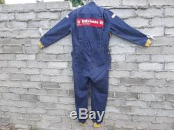 Vintage Mechanic Jumpsuit 1980s 1970s Work Clothing Finland European Multiple Patches Distressed Worn In Multiple Holes Oil Stains Grunge