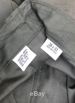 Vintage Military Cotton Utility Pants size 37 x 32 1 2 Button Fly 1966 Deadstock