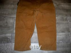 Vintage SaftBak Birding Hunting Work Men's Pants With Game Bag Pouch Size 40 X 27 Made in USA