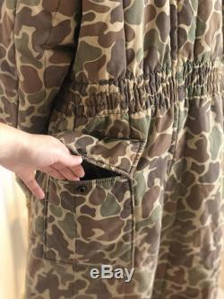 Vintage Saftbak Camo Duck Hunting Coveralls Jim Catfish Hunter 1970s 1980s Camouflage Body Suit USA Made Unisex Size L XL