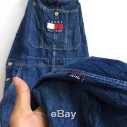 Vintage TOMMY HILFIGER Jeans Hip Hop Fashion Tommy Jeans Overall Large Size 496
