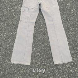 Vintage Utility Flare Cargo Faded Tactical Pants Waist 30