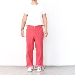 Vintage Vietnam Overdyed Red Faded Food Handler trousers 70s OG 107 Army Pants Vietnam Utility Pant Hippie workwear