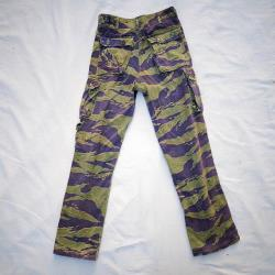 Vintage Vietnam War Authentic Purpled Seven Pocket Tiger Stripe Camouflage Small Size