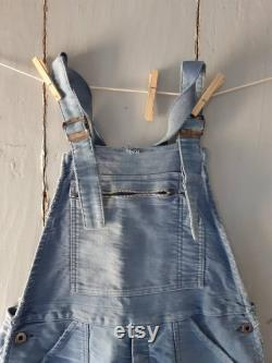 Vintage french Mont St Michel Aries Overalls Dungarees