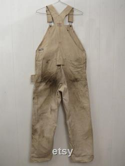 Vintage overalls, Finck's overalls, 1930s overalls, Finck's carpenter's overalls, vintage workwear, vintage clothing, size 38 x 30.5