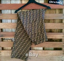Vtg 90s fendi monogram pants fullprint Fendi like new condition